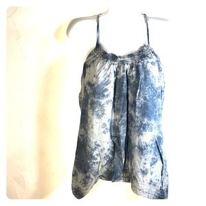 Roxy blue tie dye tank size medium